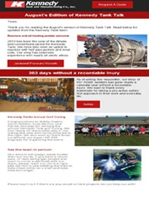 Read Kennedy Tank's August 2019 Tank Talk (pdf)
