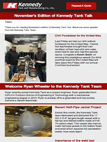 Read Kennedy Tank's November 2019 Tank Talk (pdf)