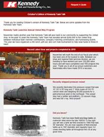 Read Kennedy Tank's October 2019 Tank Talk (pdf)