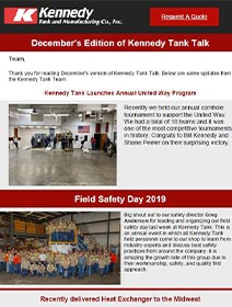 Read Kennedy Tank's December 2019 Tank Talk (pdf)