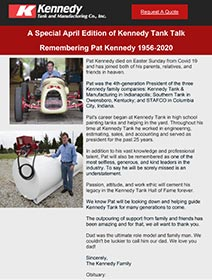 Read Kennedy Tank's April2020 Tank Talk (pdf)