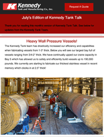 Read Kennedy Tank's July 2020 Tank Talk (pdf)