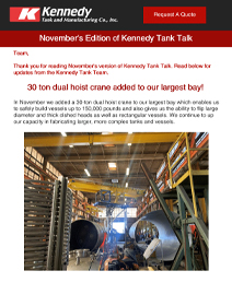 Read Kennedy Tank's November 2020 Tank Talk (pdf)