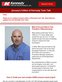 Read Kennedy Tank's January 2021 Tank Talk (pdf)