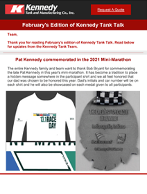 Read Kennedy Tank's February 2021 Tank Talk (pdf)