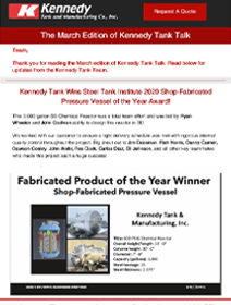 Read Kennedy Tank's March 2021 Tank Talk (pdf)